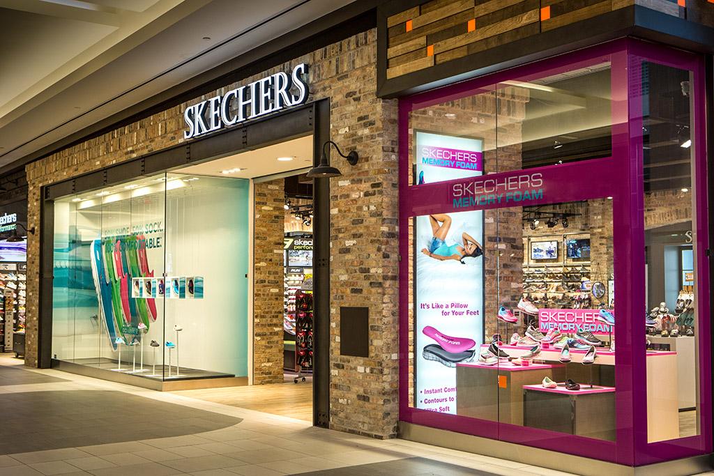 Skechers Exterior Metal Beam Entry Way and Visual Merchandising Window Props