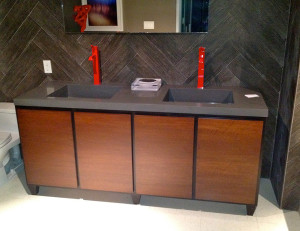 Bathroom vanity fabrication for designer Erinn Valencich