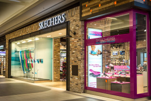 Skechers Exterior Metal Beam Entry Way and Visual Merchandising Window Props