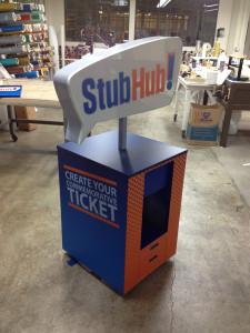 Stub Hub Commemorative Ticket Station