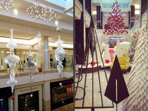 Westfield Montgomery Mall Luxury Wing - Hanging Ornaments - Metal & Felt Trees
