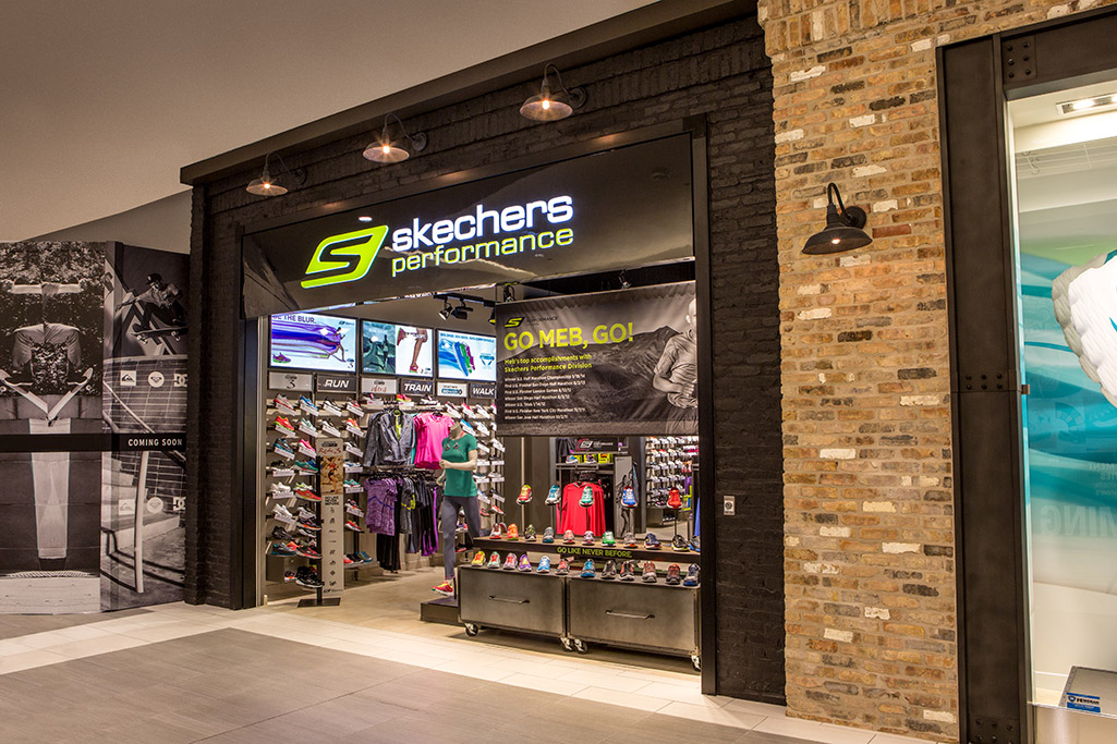 Skechers Storefront Exterior Entrance Metal Door Beam
