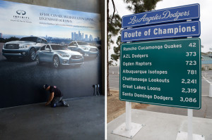(l) Infinity Wall (r) Route Of Champions Sign