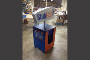 Stub Hub Commemorative Ticket Station