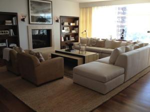 Custom modular sofa for designer David Phoenix