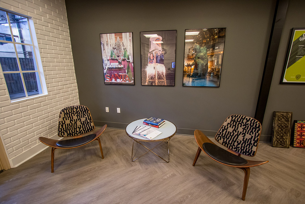 he Warner Bros. Design Studio's new Showroom and COLLAB work space.