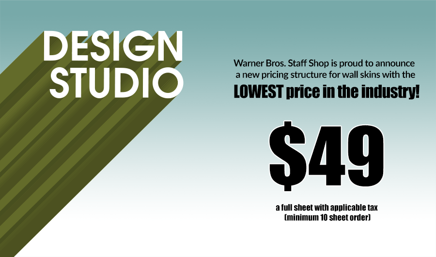 Warner Bros. Design Studio Staff Shop Rates